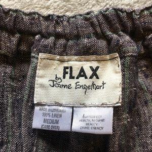 FLAX Wide Leg Linen Pants